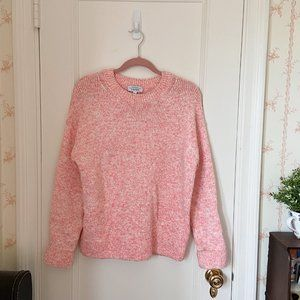 & Other Stories Pink Space Dye Knit Sweater